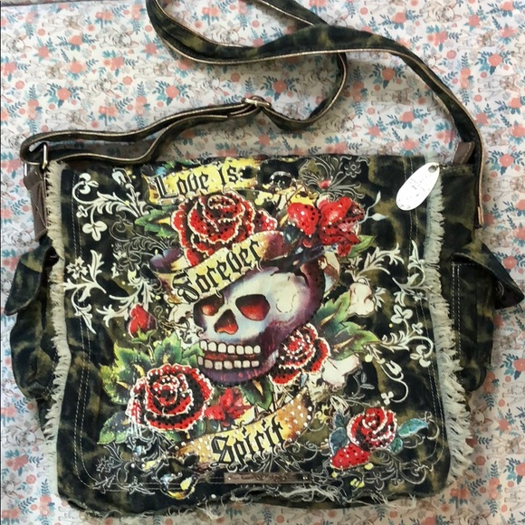 Ed Hardy Other   Authentic Messenger Bag   Poshmark 83c87d3b85